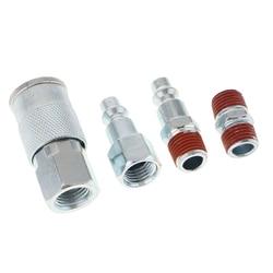 4 pçs universal conjunto de acoplador de liberação rápida 1/4 fitting fitting mangueira de ar conector montagem npt