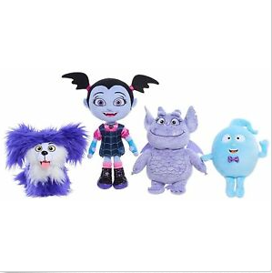 Set Of 4 Movies & Anime  Original Jr Vampirina Stuffed Plush Doll Toy Bean Demi Gregoria Wolfie