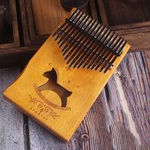 17 Keys Kalimba African solid Mahogany Thumb Piano keys Solid Wood Musical Instrument High-Quality Finger