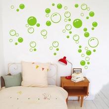 Burbujas círculo extraíble papel pintado baño pegatina de pared/ventana de bricolaje en casa de PVC etiquetas pegatinas de pared