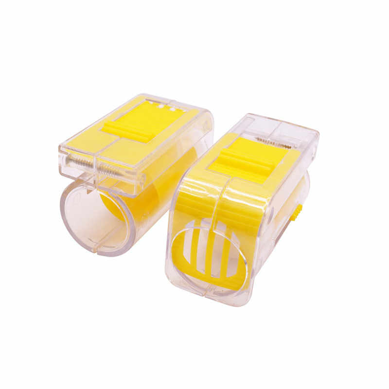 1 Pcs Lebah Ratu Marker Botol Bernapas Transparan ABS Anti-Melarikan Diri Peternakan Lebah Perlebahan Alat Yang Baik untuk Modern Peternak Lebah