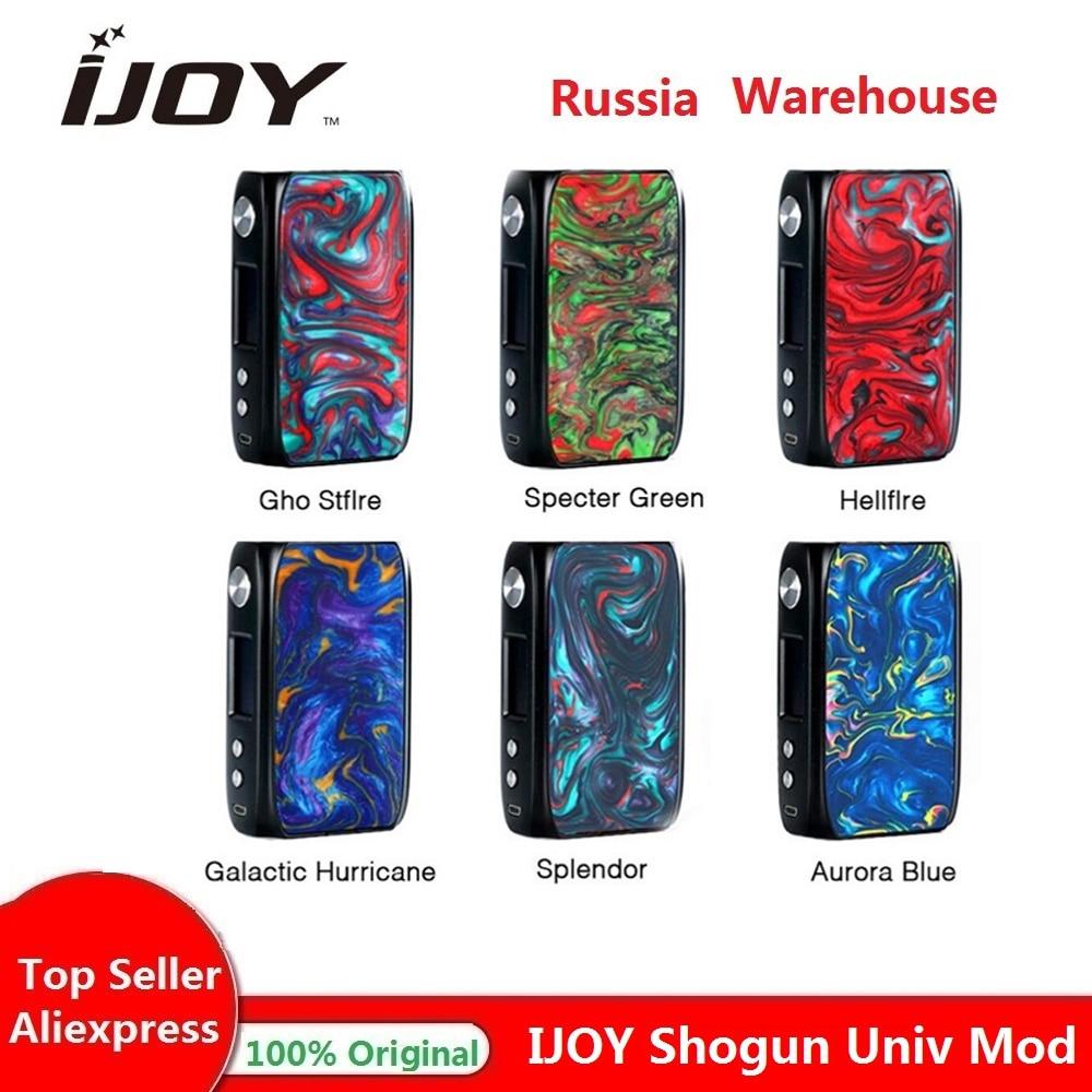 Original IJoy Shogun Univ 180W boîte Mod wi/180 W Max sortie & UNIV Chipset & gros bouton de feu e-cig Vape Mod Vs glisser 2/Luxe Mod