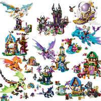 Elfen 10549 Elfen Drachen Heiligtum Gebäude Ziegel Blöcke DIY Pädagogisches Spielzeug Kompatibel mit Legoinglys Freund Freunde