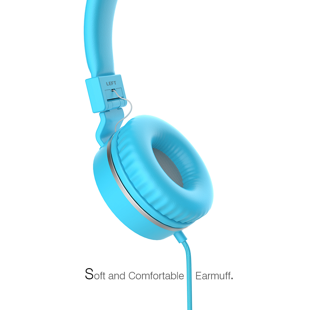 POLVCDG Blue Music Headphones Microphone Noise Cancelling HIFI Headsets DJ Earphone Stereo Computer Mobile MP3 Wired Headset in Headphone Headset from Consumer Electronics