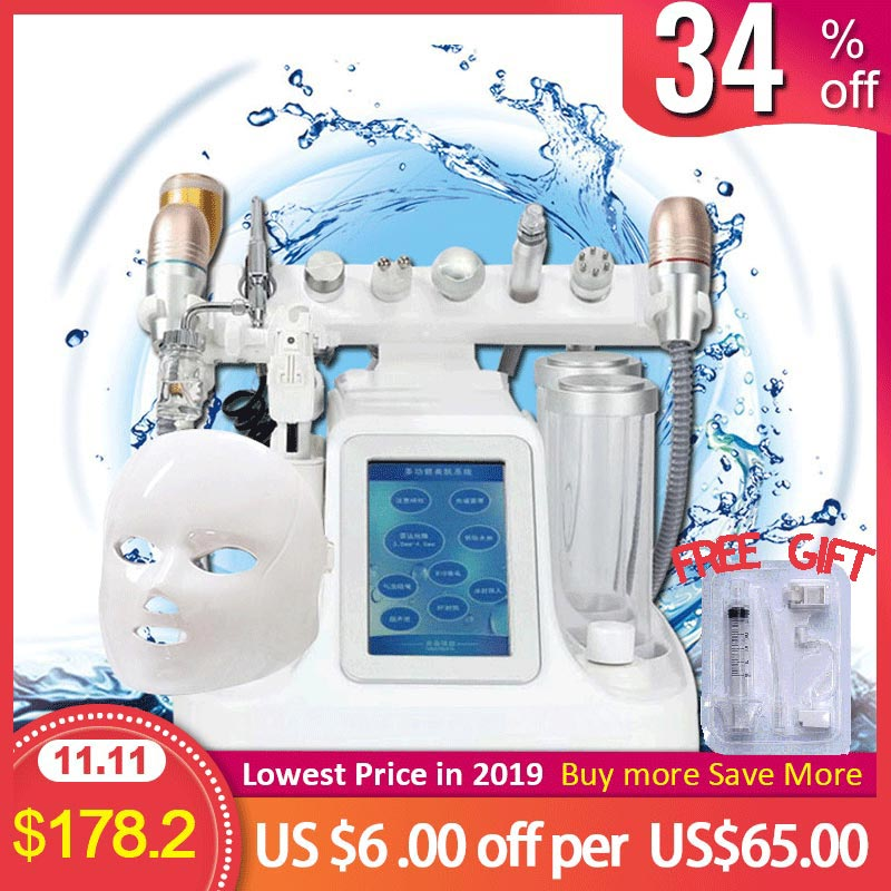 11 in 1 Hydra Dermabrasion RF Bio lifting Microdermabrasion Facial Machine Water Oxygen Jet Hydro Diamond Peeling Beauty Machine-in Face Skin Care Tools from Beauty & Health