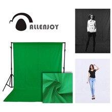 Fondos de fotografía de Allenjoy photophone pantalla verde chromakey, Fondo de sesión de vídeo, estudio de fotografía, tela no tejida