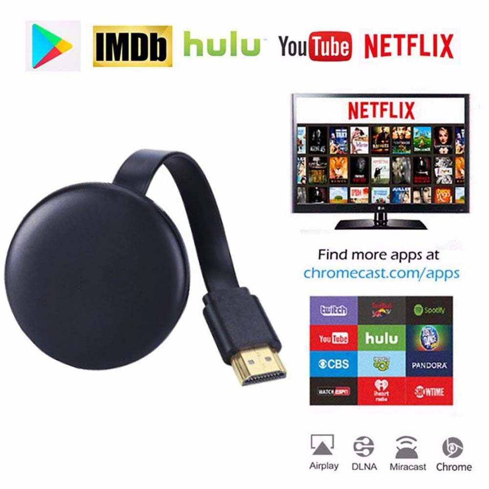 Upgrade HDMI Wifi Display Dongle YouTube Netflix Airplay Miracast TV Stick untuk Google Chromecast 2 3 Chrome Crome Cast Cromecast