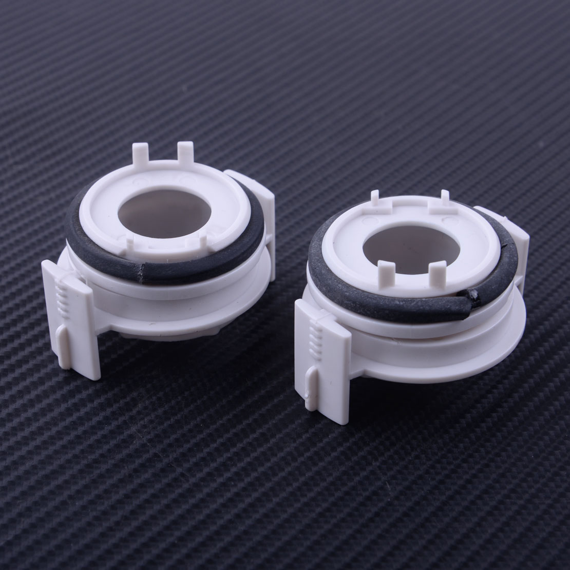 CITALL 2PCS H7 Headlight HID <font><b>LED</b></font> Retainer Holder <font><b>Adapter</b></font> Fit for <font><b>BMW</b></font> <font><b>E46</b></font> 3 Series 325i 325ci 330i 330ci 1998-2002 2003 2004 2005 image