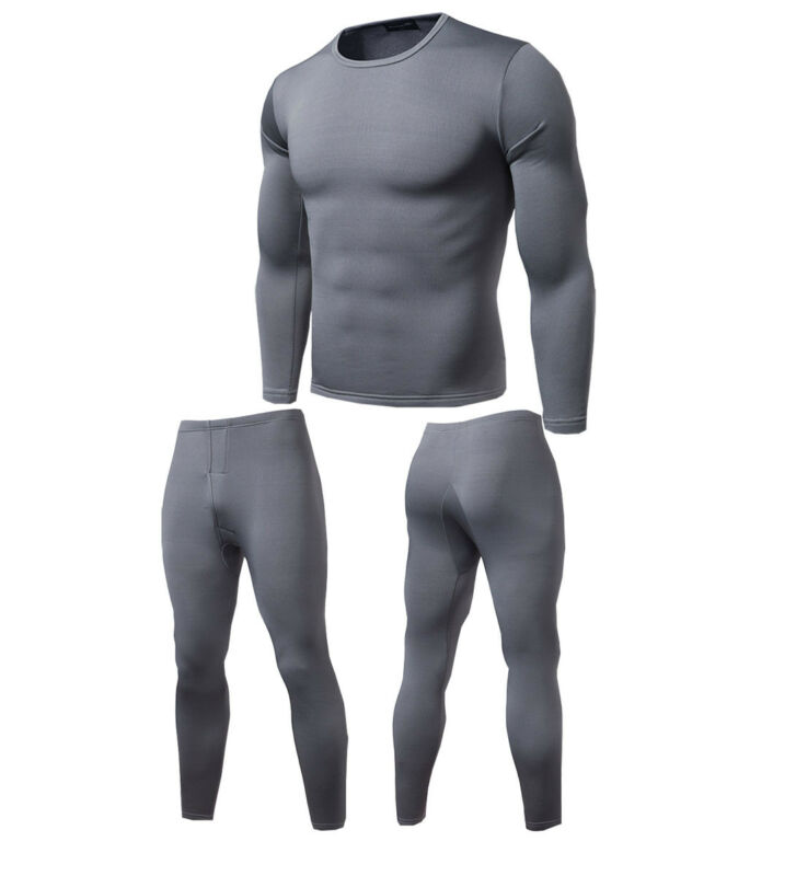 Higirin Winter Men Casual Soft Fleece Polartec Breathable Thermo Elastic Warm Thermal Underwear Suits Set