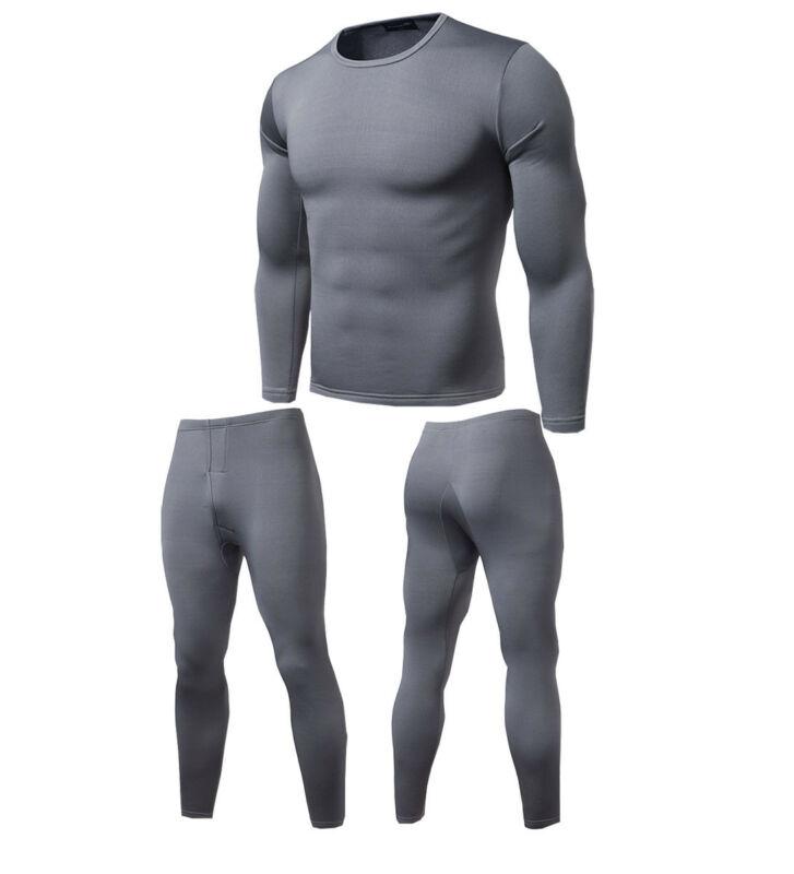 Higirin Winter Men Casual Soft Fleece Polartec Breathable Thermo Elastic Warm Thermal Underwear Suits Set