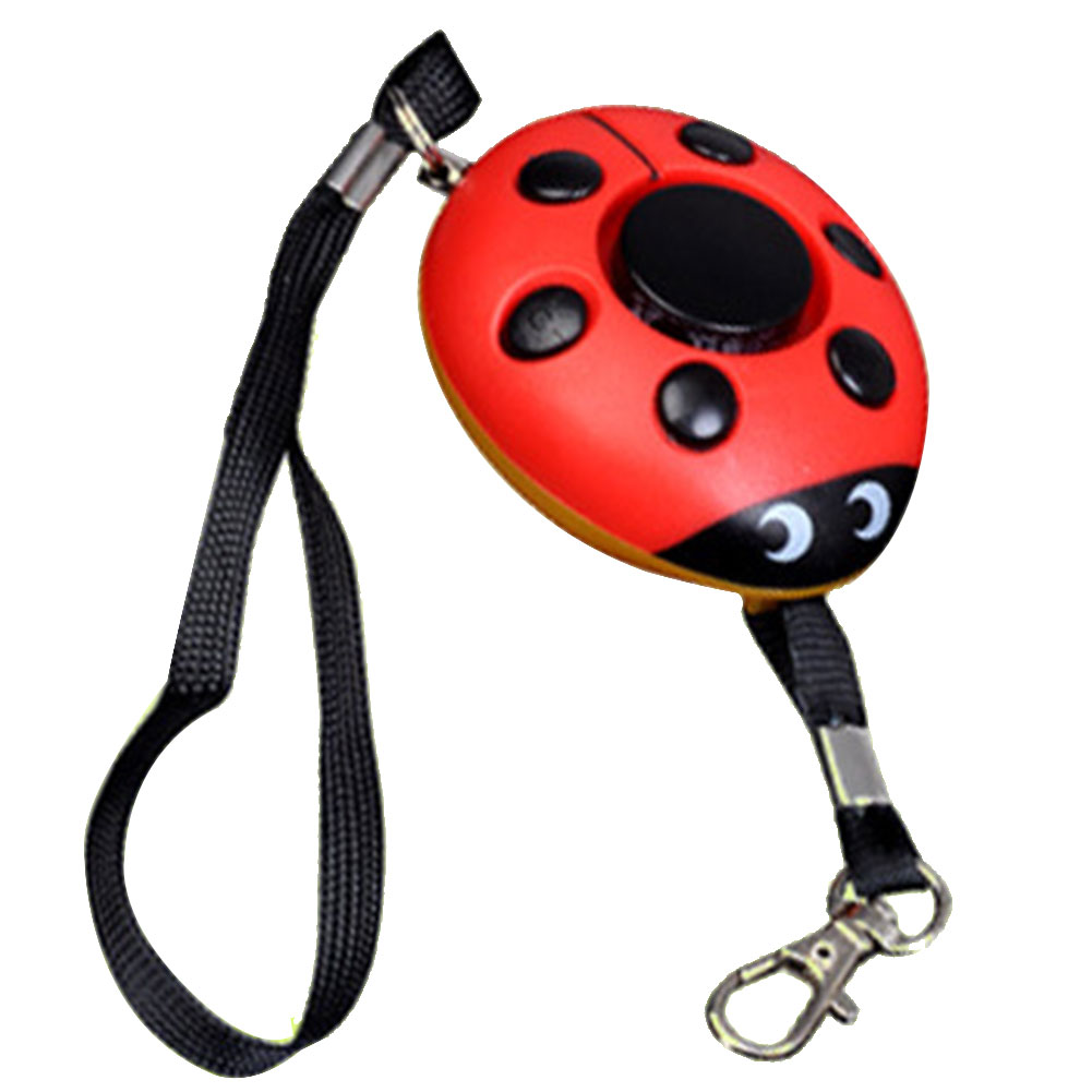 Women Security 130DB Keychain Beetle Shape Alert Elderly Emergency Girl Scream Self Defense Alarm Loud Practical Personal Safety