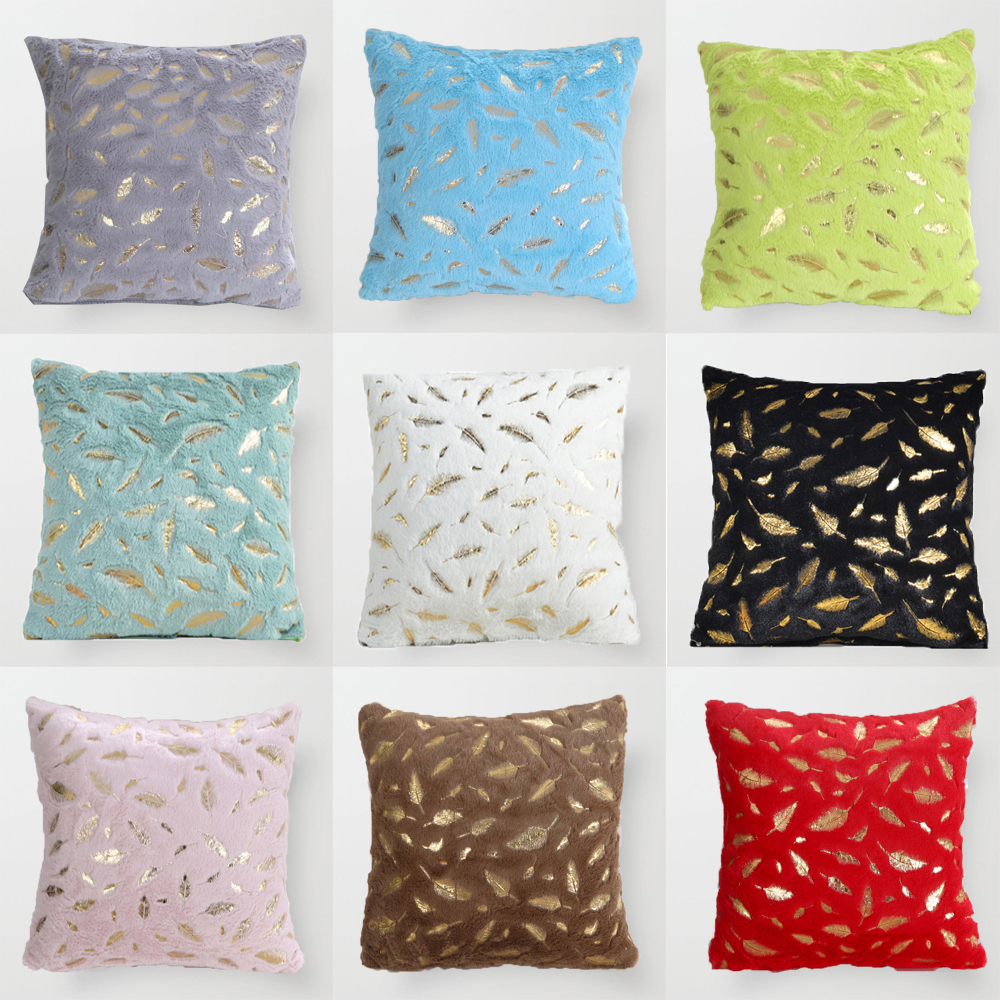 Купить плюшевый тканевый чехол для подушки декоративный меховой 45x45
