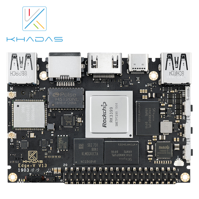 Free shipping Rockchip RK3399 <font><b>Soc</b></font> Multiple Operating systems khadas Edge v Pro Single <font><b>Board</b></font> Computer image