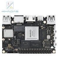 Frete grátis rockchip rk3399 soc múltiplos sistemas operacionais khadas edge v pro computador de placa única