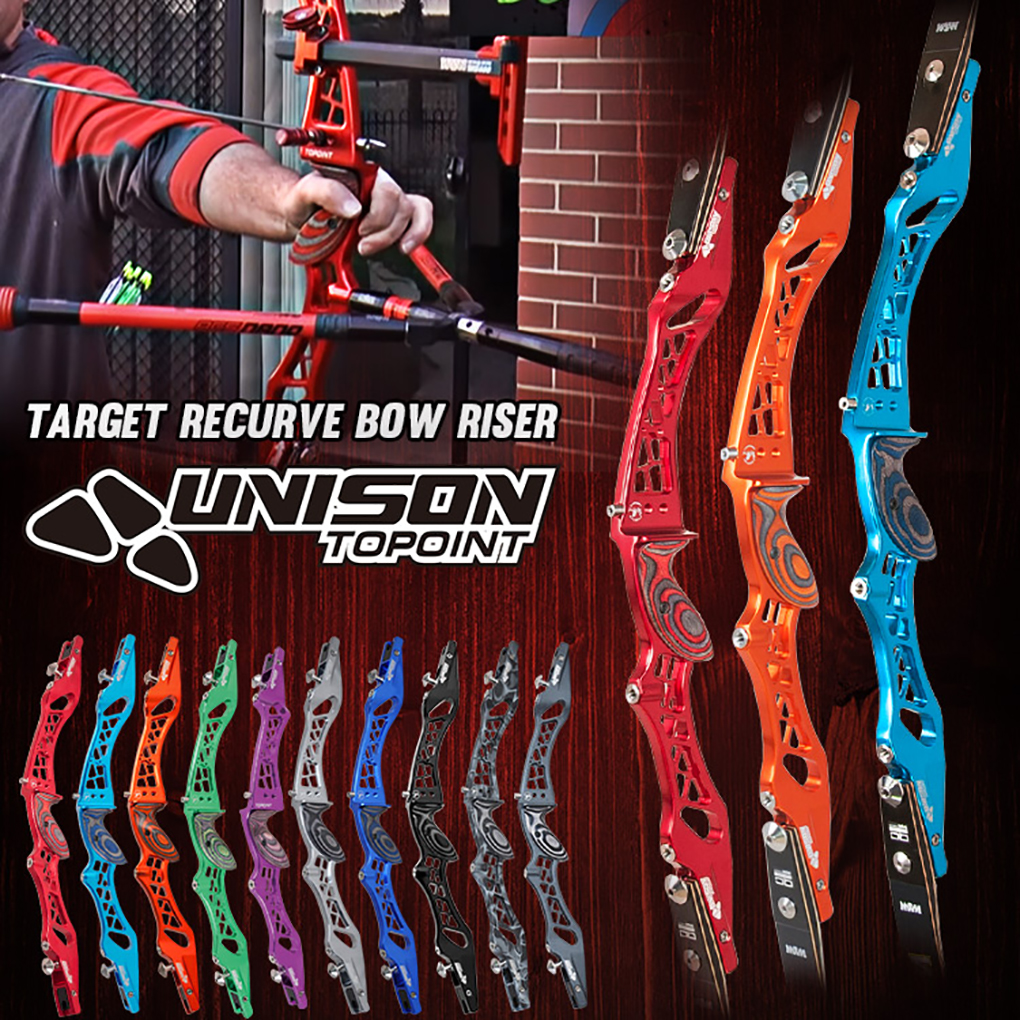 10 ColorsTopoint Competition Takedown Recurve Bow Riser UNSION,CNC Bow Riser,Aluminum Riser For Recurve Bow ILF Bow Riser Only