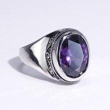 Real 925 prata esterlina anéis para mulher com zircão pedra ametista rubi garnet thai vintage prata flor gravado jóias