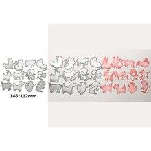 Popular Chinese Zodiac Animal Decoration Metal Cutting Dies Scrapbooking Album Paper DIY Cards Crafts Embossing Cut 2019