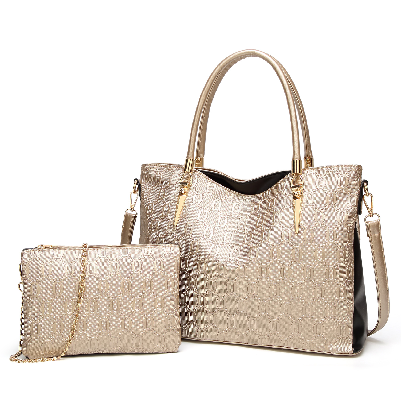 Ceossman Luxury 2Pcs/Sets Women Handbags Leather Shoulder Bags Female Large Capacity Crossbody Tote Bucket Purses Messenger Bag