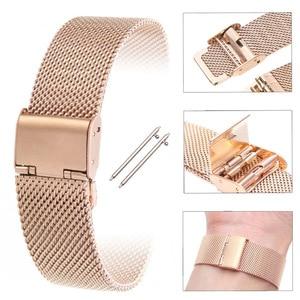 Image 5 - Stainless Steel Band For Xiaomi Amazfit GTR 2 Bip S U Pro GTS2 Mini 2e Stratos 3 Bracelet Watchband 20mm 22mm Smart Watch Strap