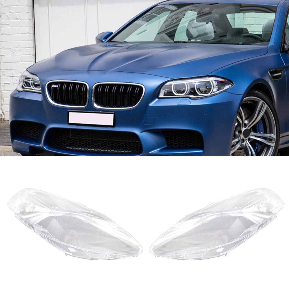 Car Headlight Glass Lampshade Front Lamp Covers Headlamp Lens For BMW F10 LCI F18 528i 530i 535i 2010-2014