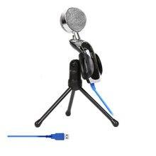 Micrófono de condensador de sonido profesional para PC, portátil, grabación de Audio, condensador, micrófono KTV, USB, SF-922B