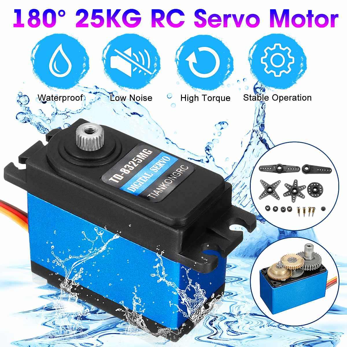 180 ° 25Kg Digital Servo Logam RC Servo Motor TD8325MG Tahan Air FPR RC Mobil