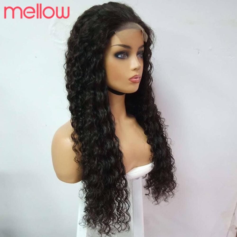 Brazilian 13X4 Human Hair Water Wave Lace Front Closure Wigs Pre Plucked With Baby Hair Weave Lace Front Wig 150 Density