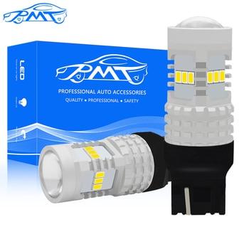 BMT 2X LED COCHE DRL Luz de circulación diurna de marcha atrás blanco intermitente amarillo luz de freno rojo T20 7440 7443 7444NA W21W WY21W Canbus