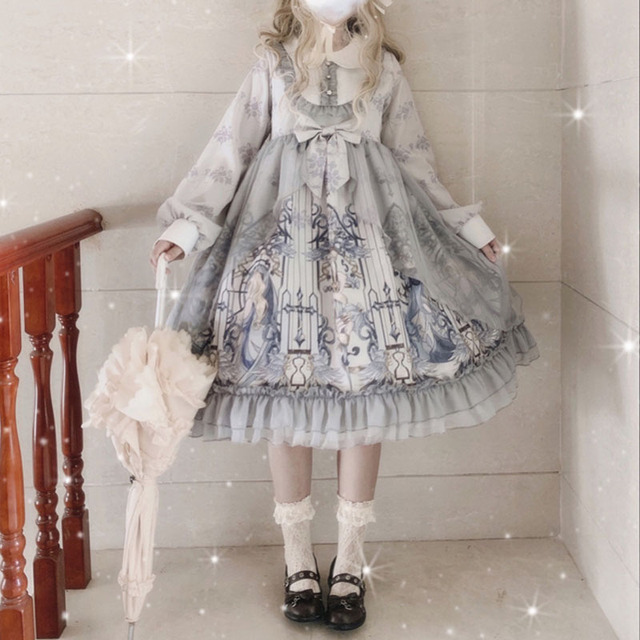 Фото винтажное платье в стиле питера пэна с воротником и высокой цена