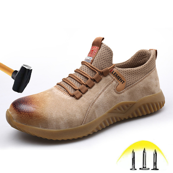 Men's Safety Shoes Breathable Leather Insulation Welder Work Shoes Wear-resistant Oil-resistant Men's Safety Protective Shoes недорого