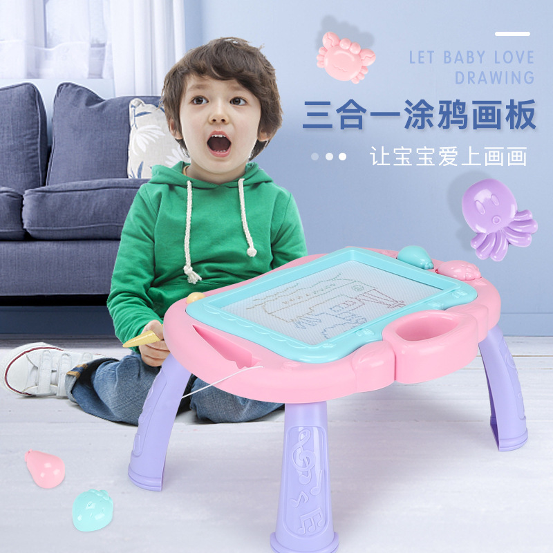 Children Magnetic Graffiti Hua Ban Zhuo Color Hand Drawing Board Not Dirty Hands-Repeated Use Large Size Drawing Board