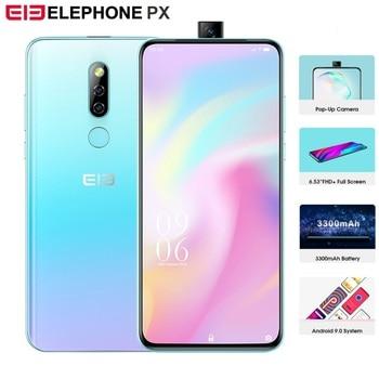 "Elephone PX 6.53"" FHD+ Global Version Smartphone Android 9.0 MT6763 Pop-Up Camera Design 16MP Camera Fingerprint Mobile Phone"