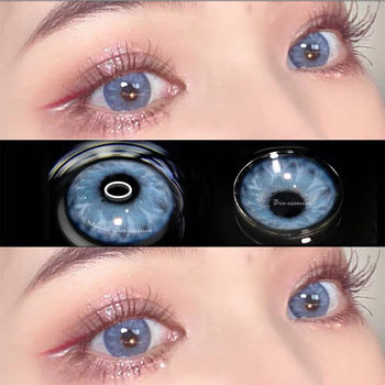 GEM Seriers 2pcs Colored Contact Lenses Eye Year Toss Soft Color Natural Looking Lens for Eyes Bio-essenc