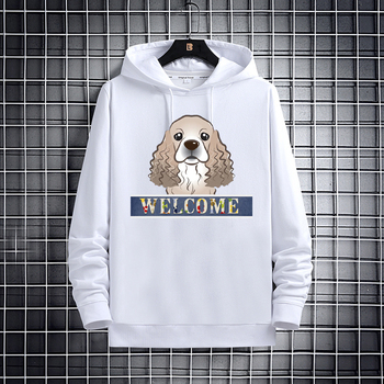 Autumn/Winter new puppy graphic casual hoodie for women and men the same dog lovers long-sleeved hoodie sweatshirt women Tops fashion hoodie men s and women s salomon casual long sleeved hooded pullover autumn and winter brand new sweatshirt