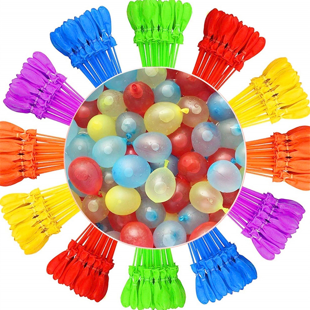111pcs/bag Water Balloons Bunch Filled With Water Balloons Latex Balloon Toy Balloons Rapid Injection Summer Game Toy