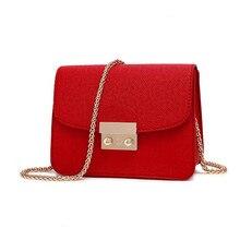 купить women leather handbags Chain Solid Shoulder Bag mini bags Woman Messenger Bag purses and handbags дешево