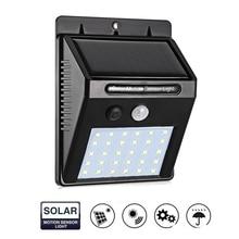 1/10pcs 30 Leds Solar Light 3 Side Illumination PIR Motion Sensor Wireless Waterproof Outdoor Garden Wall LED