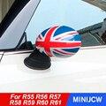 2 шт. двери автомобиля зеркало заднего вида обложки наклейки на авто-Стайлинг для Mini Cooper S Clubman Countryman, Mini Paceman, R55 R56 R57 R58 R59 R60 R61