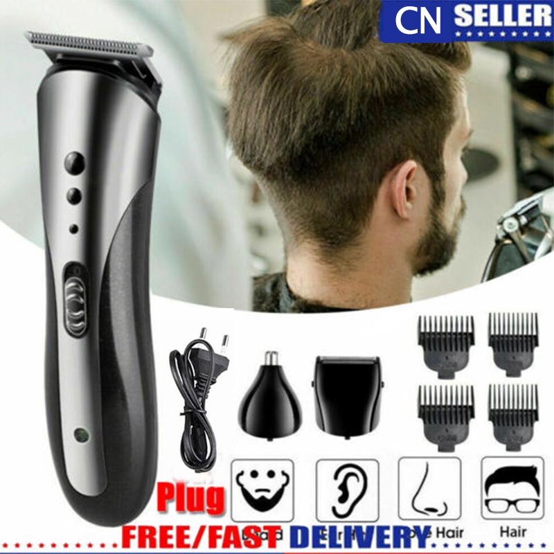 Kemei 3 In1 Rechargeable Hair Clipper Professional Waterproof Beard Nose Trimmer For Men Razor Barber Hair Cutting Machine Care