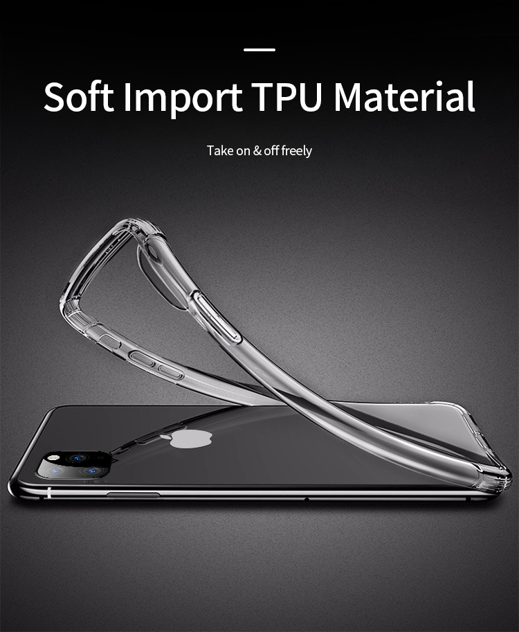 Shockproof Bumper Clear Silicone Case for iPhone 11/11 Pro/11 Pro Max 6