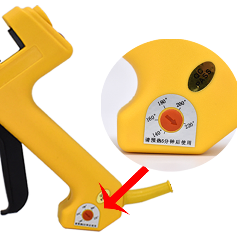 Tools : 250W Specialty Solizer Adjustable heating temperature Glue Tool Kit With 11MM Hot Melt Glue Sticks 1 Copper Nozzle Glue - Gun
