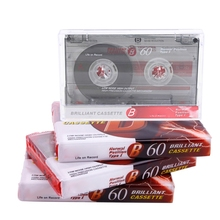 2Pcs Standard Cassette Blank Tape Player Empty 60 Minutes Magnetic Tape 24BB