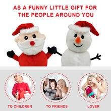 Новогодняя двухсторонняя мини кукла Санта Клаус игрушки флип