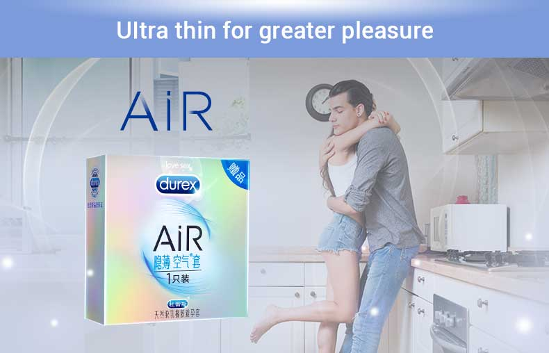 wholesale <font><b>bulk</b></font> Durex Air Condoms Ultra Thin Condones Natural Rubber Latex Sex Products Intimate Pleasure Penis Cock Sex for Men image