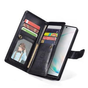 Image 5 - 2 en 1 Magnétique portefeuille en cuir synthétique polyuréthane étui pour samsung Galaxy Note 10 Plus 8 9 S10 Plus S10e S9 S8 Plus 9 Fentes Pour Cartes Flip Stand Sac