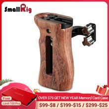 Estabilizador de empuñadura de vídeo para cámara pequeña, mango Universal de madera con soporte para zapata fría y agujeros de rosca 1/4 3/8 2093