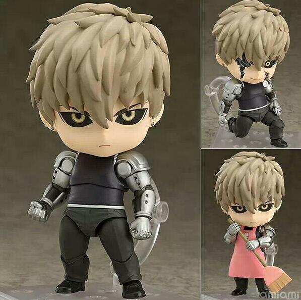 10CM One Punch Man Genos 645 Genos Doll PVC Brinquedos Anime Figure Toys
