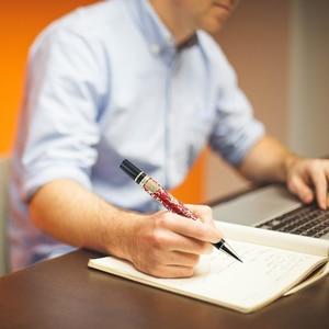 Image 5 - Penna a sfera di lusso di alta qualità Jinhao 5000 Dragon Clip dorata penna a sfera direzionale cancelleria penna regalo per ufficio aziendale