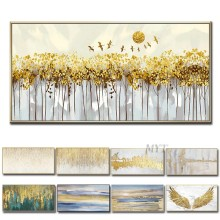 Chinese Wall Art Modern Living Room Wall Decor Flower Painting Large Canvas Art Hand Painted Wall Pictures No Framed(China)