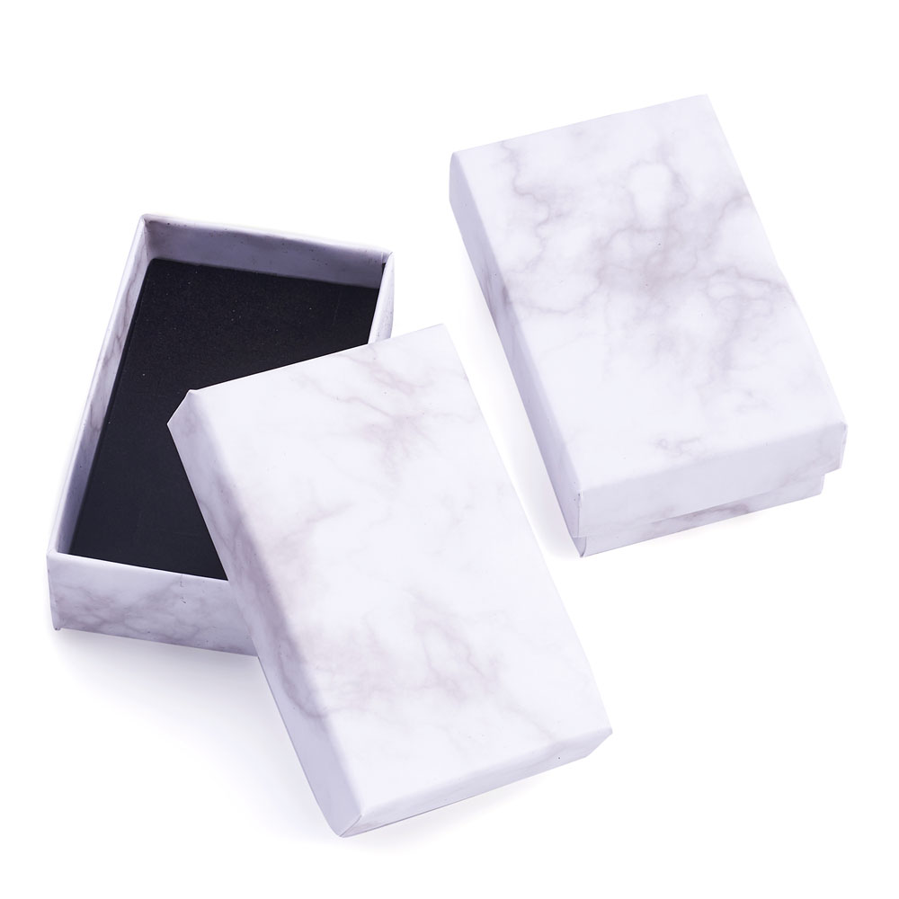18~24pcs Paper Cardboard Jewelry Boxes Storage Display Carrying Box For Necklaces Bracelets Earrings Square Rectangle